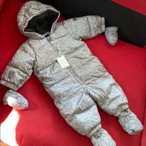 Gap 6-12mo down snow suit fleece booties mittens